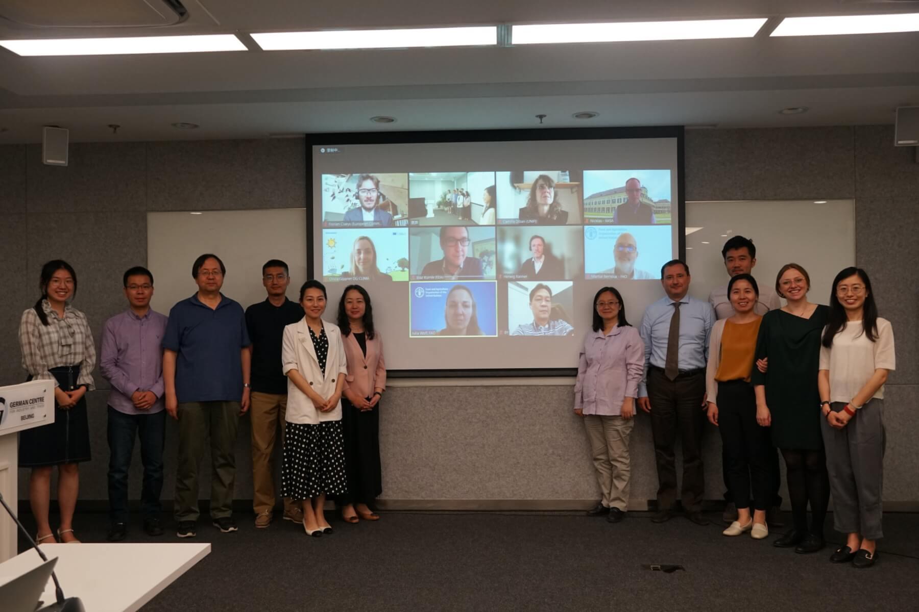 Participants at the hybrid China-EU Expert Dialogue