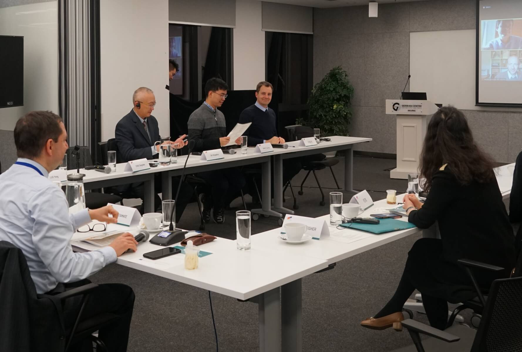 Chinese and German experts discuss at a hybrid conference